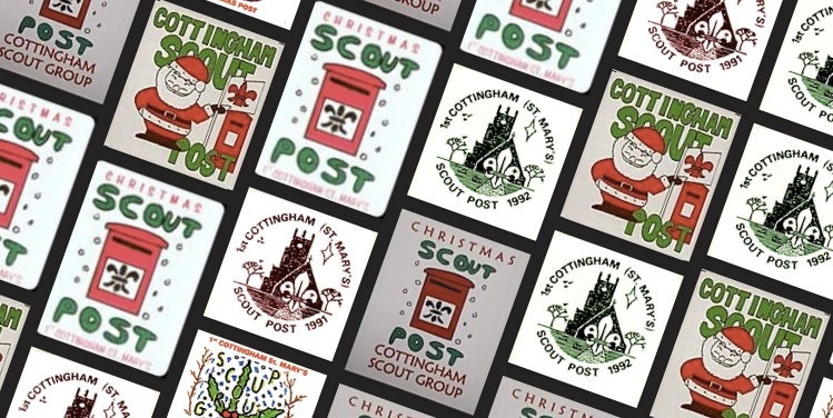 Selection of stamps from Cottingham Scout post over  the years