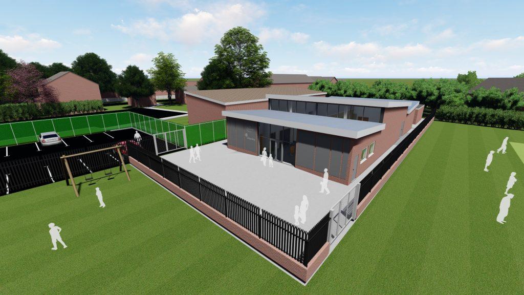 The Hub Cottingham 3D visuals of the building plans